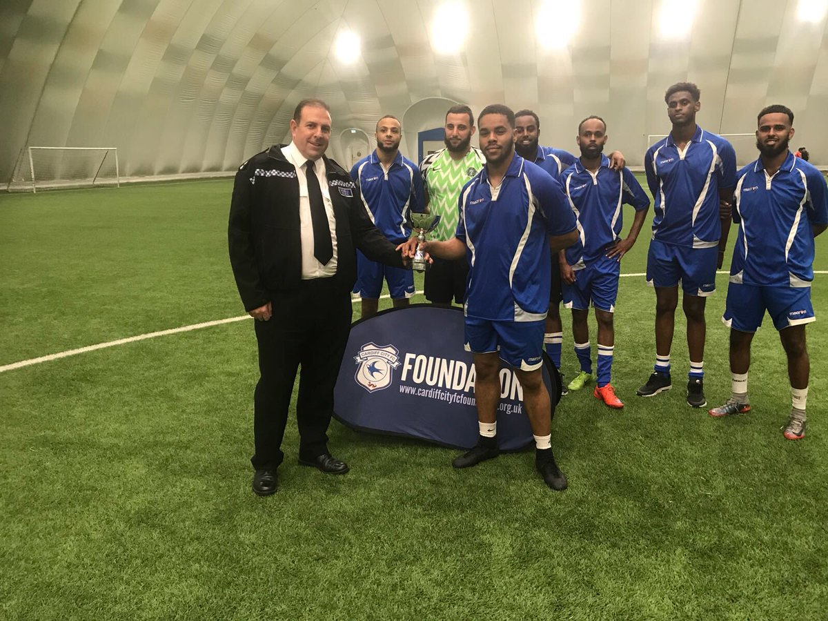 And the winners of the first Cardiff community cohesion. 5 a side competition is the Somaliland community , congratulations to the team on their efforts today. #welldone @CCFC_Foundation @swpcardiff<br>http://pic.twitter.com/uS2ee0QGha &ndash; à Cardiff City House of Sport