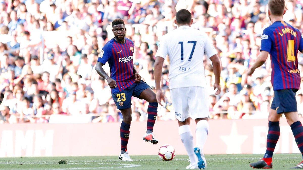 😄🏟 Quel plaisir de retrouver le Camp Nou! Un placer volver a jugar en el Camp Nou! #ForçaBarça