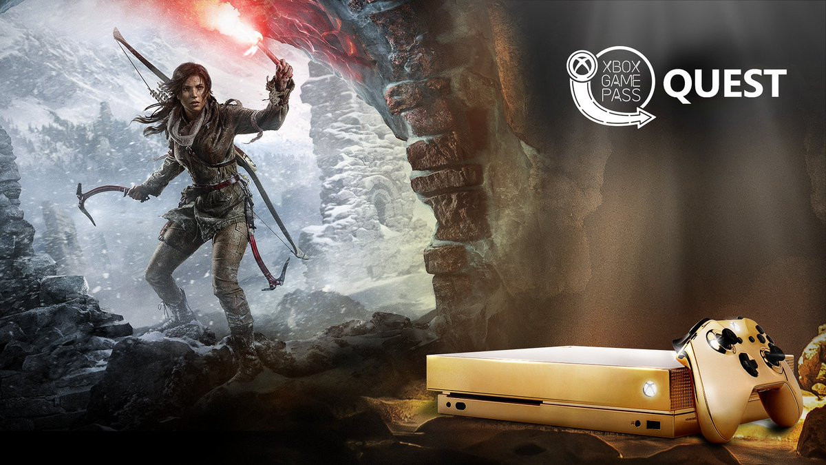 Do as Lara does and crush this month's quests for a chance to win a custom Eclipse Xbox One X. Rules:  https:// xbx.lv/2BfMnJ4  &nbsp;  <br>http://pic.twitter.com/EhUXQp9YjZ