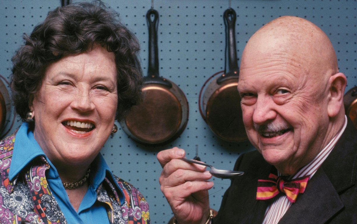 """Julia Child would have been 106 today. She came up with the idea to preserve James Beard&#39;s NYC townhouse, saying """"Something ought to be done with Jim's house."""" We&#39;re grateful to the late chef, author + TV personality for her mark on the American food scene. Happy birthday, Julia! <br>http://pic.twitter.com/KgCq5aYP2z"""