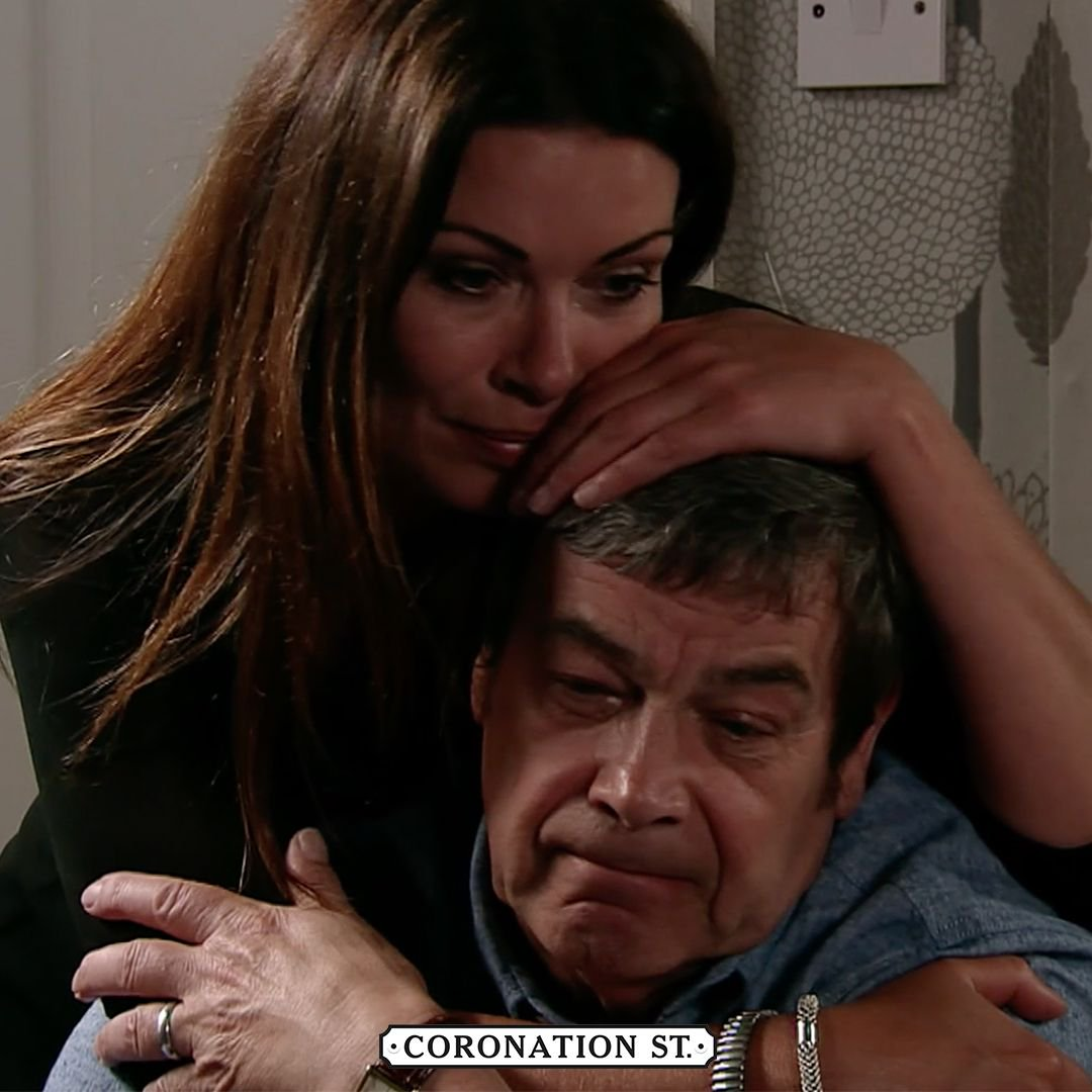 'I miss him you know'💔  If you have been affected please visit https://t.co/W35MEI9xnr where help and support is available.  #Corrie #Johnny #Carla