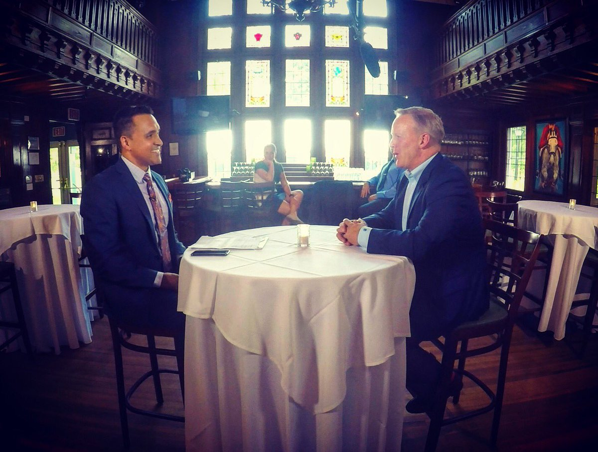 What happened when I sat down with former @WhiteHouse press secretary @seanspicer? Tune in to @SPECNewsAlbany @CapitalTonight to find out...<br>http://pic.twitter.com/KuRIFsFy8K