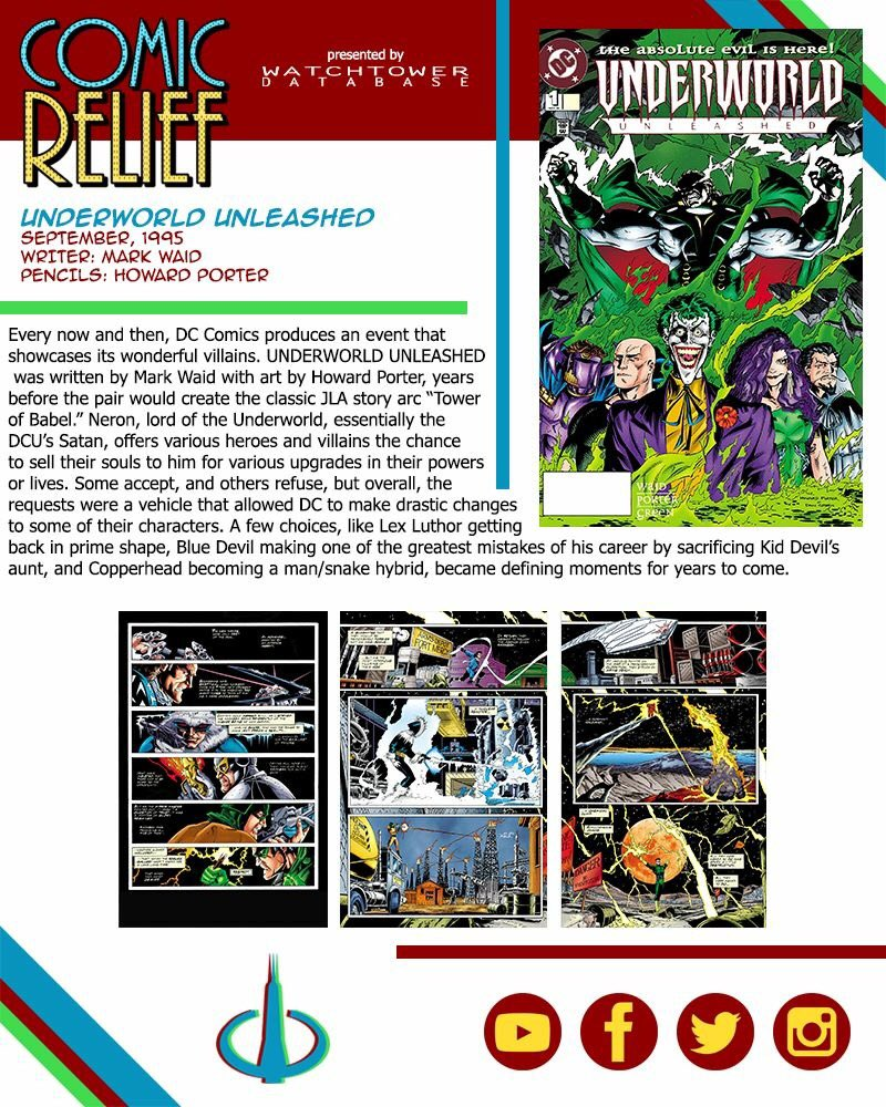 The #WatchtowerDatabase presents #ComicRelief, weekly #comic recommendations from #LegaciesOfTheDCAU writer @ted_kendrick. #UnderworldUnleashed is available to read online via @comiXology: https://www.comixology.com/Underworld-Unleashed-1995-1/digital-comic/540502?ref=c2VyaWVzL3ZpZXcvZGVza3RvcC9ncmlkTGlzdC9Jc3N1ZXM… @MarkWaid