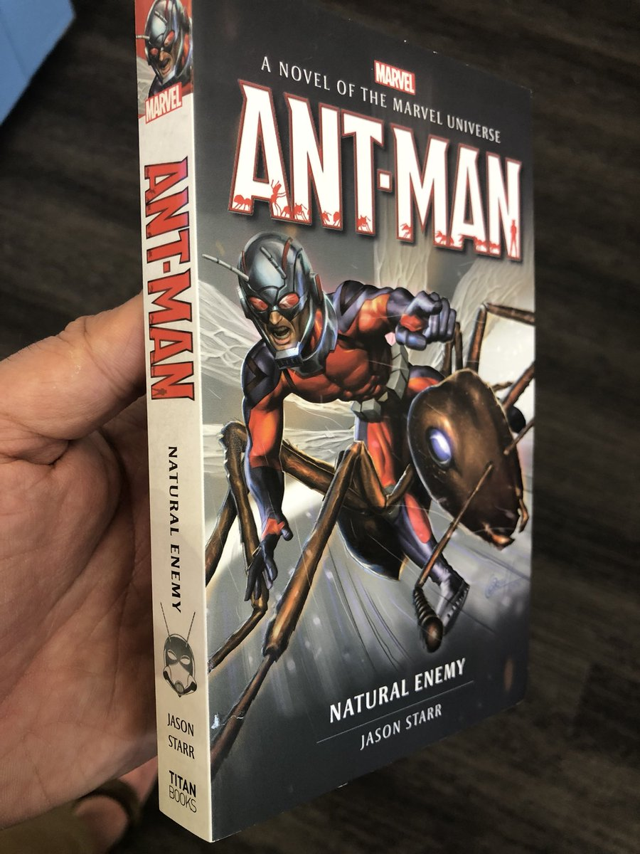 Every #Marvel fan needs one of these! My official Ant-Man novel on sale now at all bookstores in U.S. and U.K. @Marvel @TitanBooks @AntMan<br>http://pic.twitter.com/QLwqK8Ejxj
