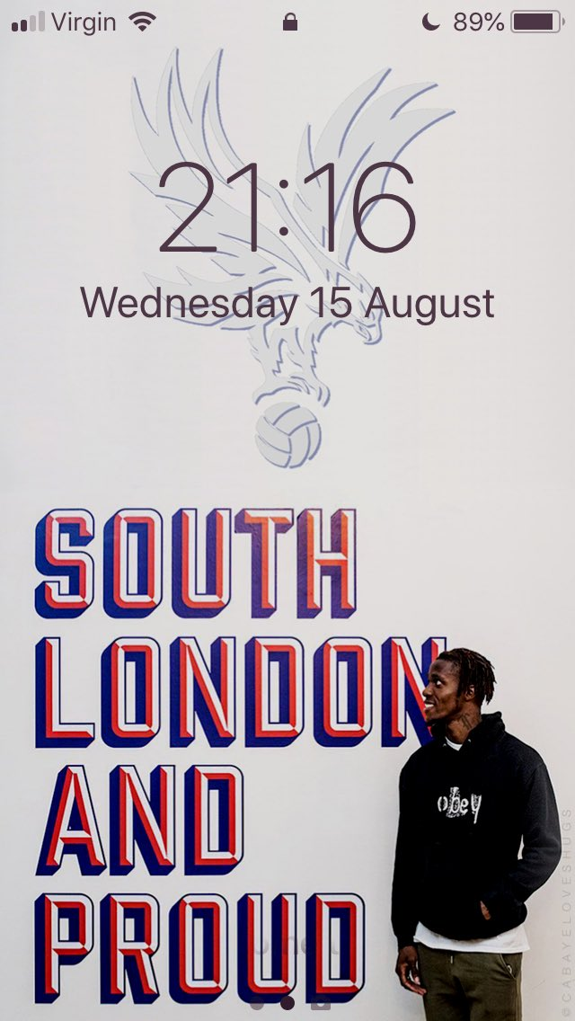 Wilf Zaha - SOUTH LONDON AND PROUD - Lockscreen.   Retweet and Follow for a copy   #CPFC<br>http://pic.twitter.com/YRa1W5wtDJ