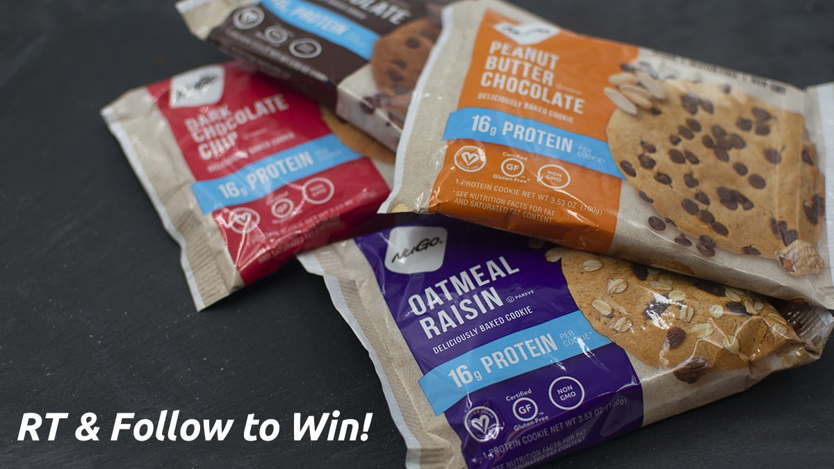 RT &amp; Follow to enter to win a mixed box of #glutenfree #vegan NuGo Protein Cookies! 3 Winners on 8/19/18. #LoveforNuGo  http:// bit.ly/2KN4Hc1  &nbsp;  <br>http://pic.twitter.com/CtMsiylOIz