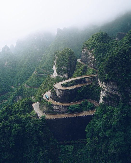 Tianmen Mountain, China  | Photography by Rey Canlas <br>http://pic.twitter.com/Vb5g08aFJe