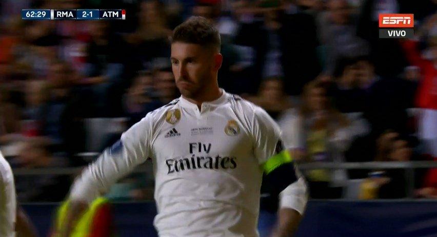 Sergio Ramos a marqué contre l'Atletico...  Lors de la finale de LDC en 2014. Lors de la finale de LDC en 2016. Lors de la Supercoupe d'Europe 2018.  L'Atletico est la... de Sergio Ramos.