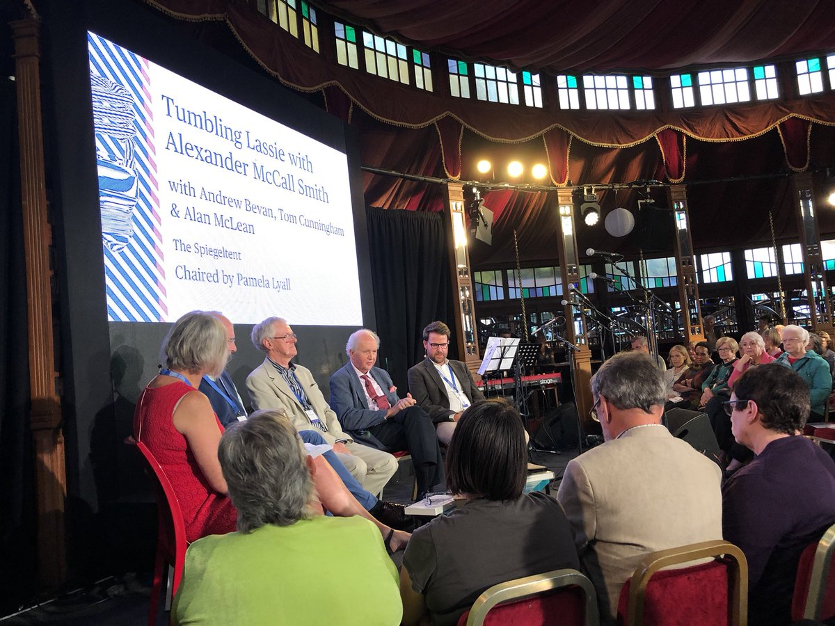 'What are the things in your hands and how can you use these in fighting slavery?' Wonderful to hear how author @McCallSmith, composer Tom Cunningham, Alan McLean QC and @IJMUK's @andybevan87 have each used what's in their hands to fight slavery #TumblingLassie @edbookfest<br>http://pic.twitter.com/gopNAdgvvd