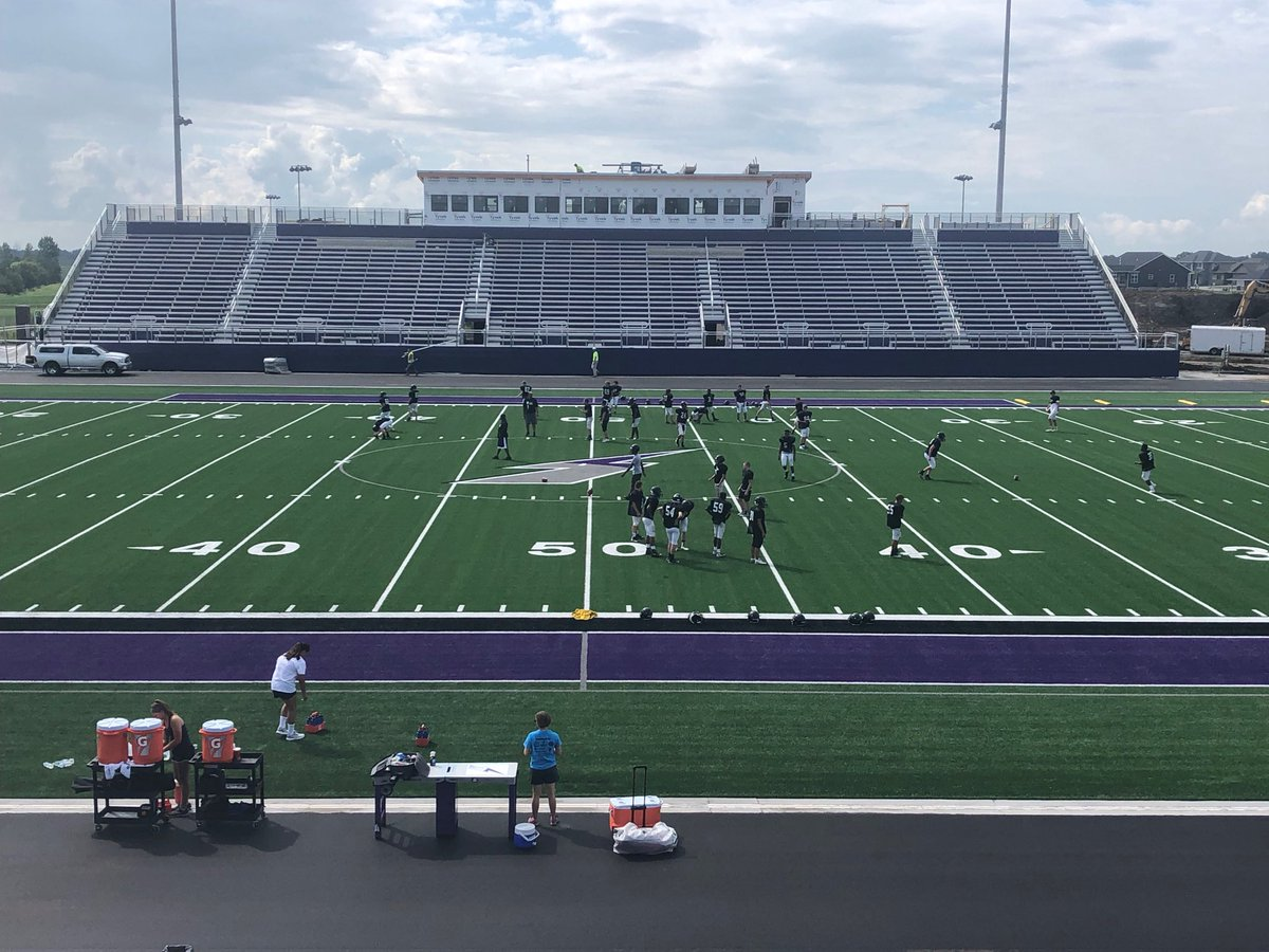 1st day of practice on our new field. #boltnation<br>http://pic.twitter.com/1o4P5MUVCu