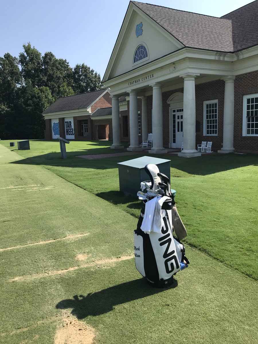 Got some practice in today in Chapel Hill as 1st alternate for @WyndhamChamp. Thx @UNCmensGolf for a great session.