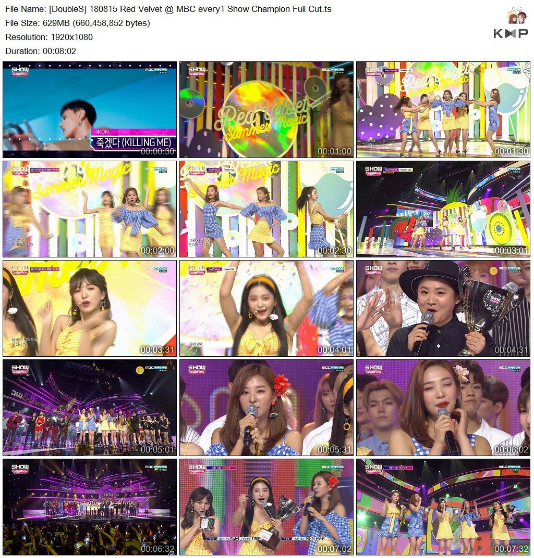180815 Red Velvet @ MBC every1 Show Champion Full Cut - No.1 Nominee + Power Up + Encore Stage (Eating Bingsu)   https:// drive.google.com/file/d/1rX28pm 4p7Lk-bbgVHpY_5bDZalUN25c2/view?usp=sharing &nbsp; …  #DoubleS <br>http://pic.twitter.com/k0FjqZogbb