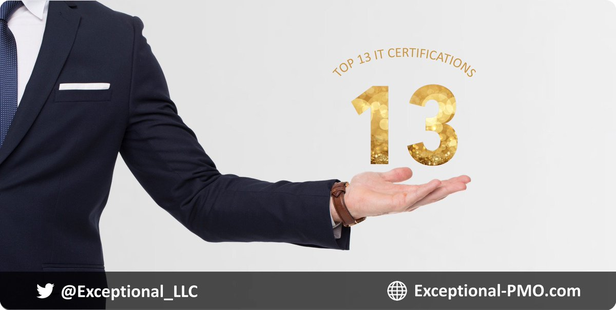 Exceptionalllc On Twitter Top 13 It Certifications 3 Of Them Are