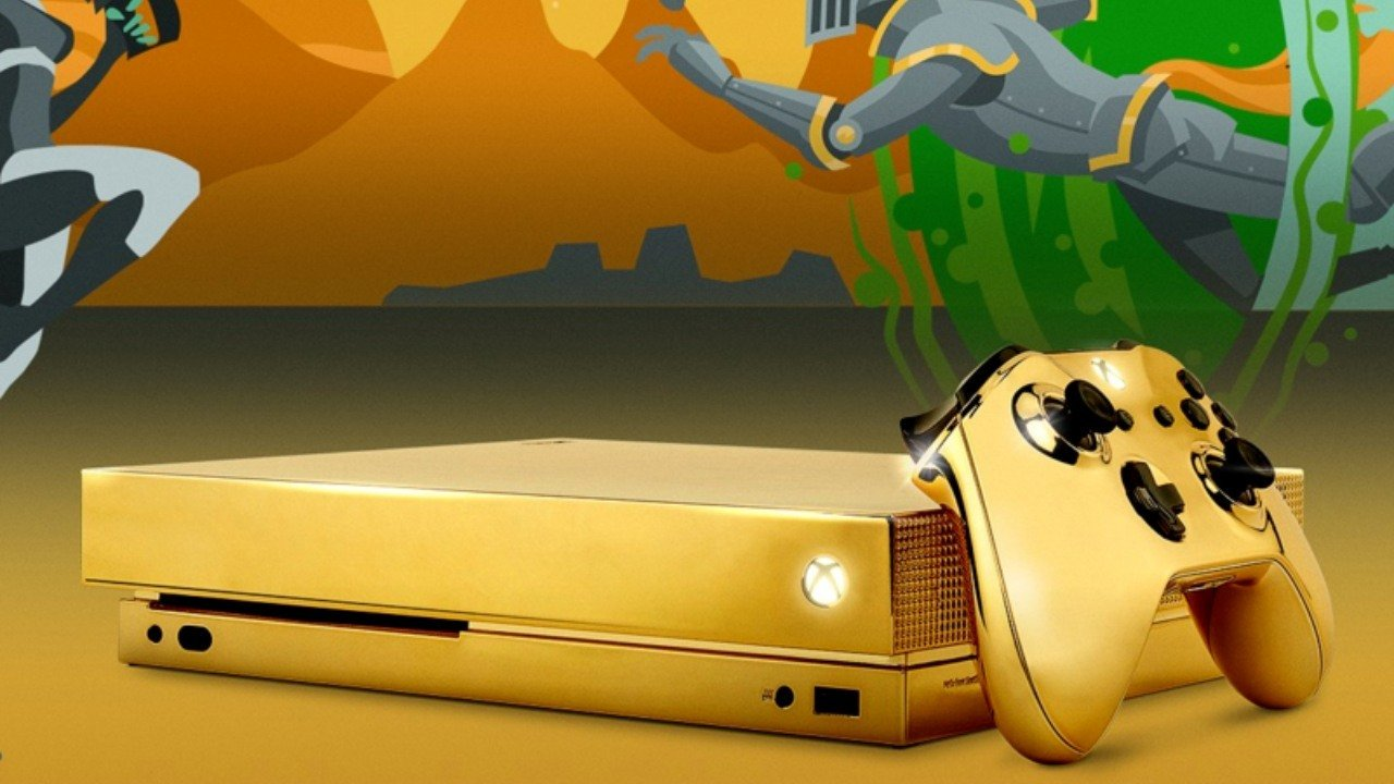 Microsoft is giving away a gold-plated Xbox One X. ��  https://t.co/LTU0nF79GB https://t.co/zFvENbSSnN