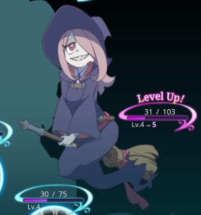 Sucy (leveling up in Little Witch Academia: Chamber of Time videogame) <br>http://pic.twitter.com/Qssb21sOdt