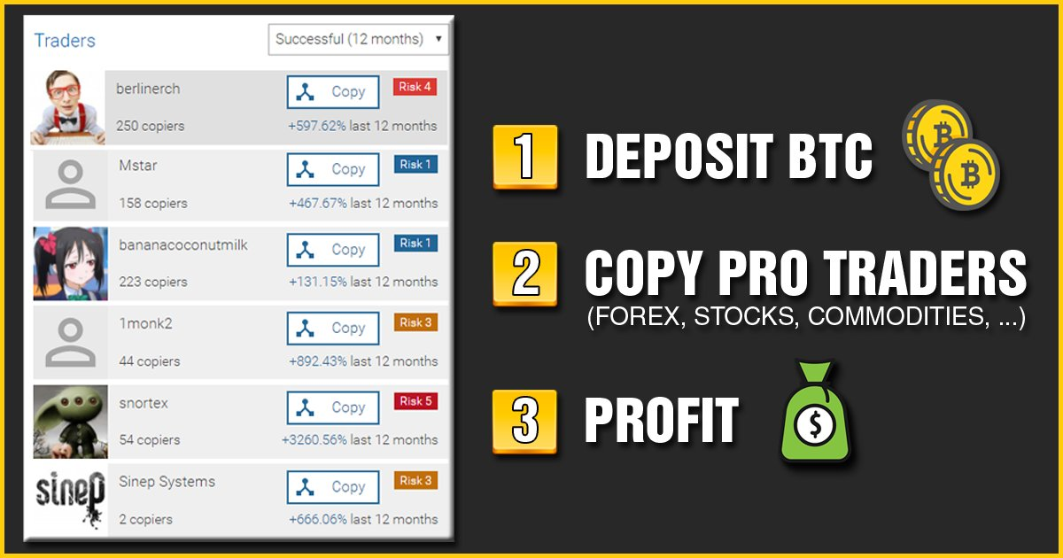 Just wanted to share this website with y&#39;all. Made some nice profits just by copying traders!   --&gt;  http:// copybtctraders.com  &nbsp;    $BNT 1.5172267017$ $XP $DLT $PASC $PPP $DCT $BAT $OCT $NYC $DATA $BTDX $GAME $AST $USDT $RIC $SKY $QRL $ZEN $EMV $XVG $KNC $CDT<br>http://pic.twitter.com/eyOXzoMAkN