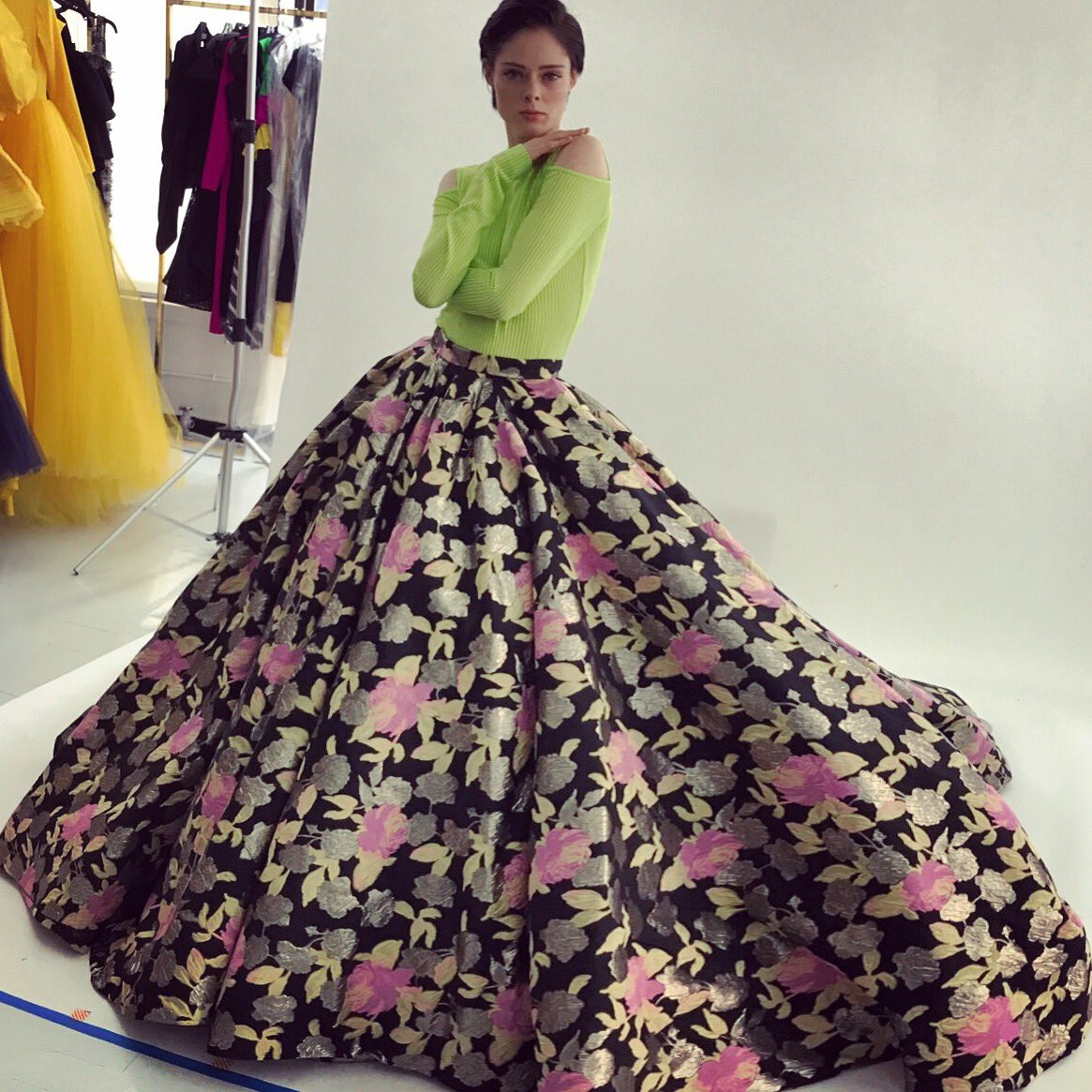 Last years Spring collection fittings with the amazing @cocorocha. I can't believe #fashionwweek is 3 weeks away! 🌸🌺🌸🌺