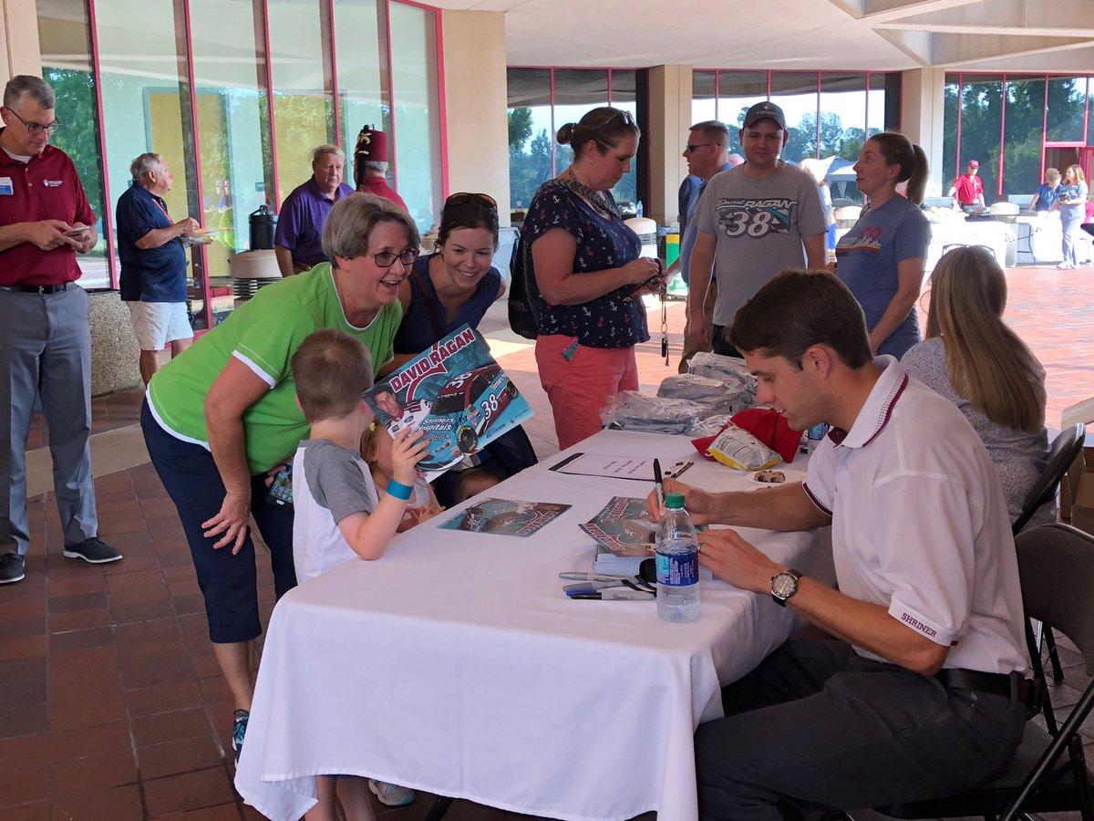 With @DavidRagan at @shrinershosp for Children in Greenville, SC #NASCAR