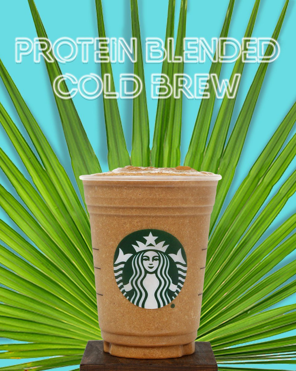 Goodness from the ground up. Introducing the NEW #ProteinBlendedColdBrew. Non-dairy. Plant-based protein. 🌱🙌