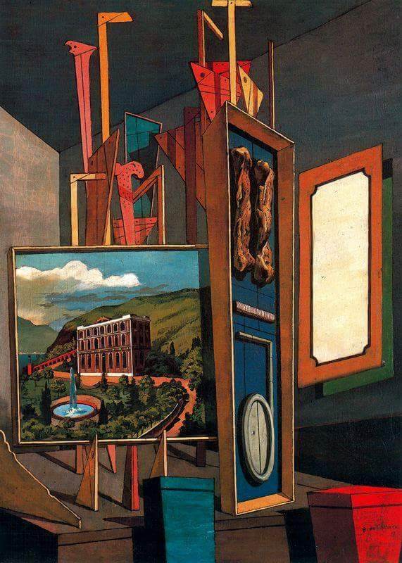 Giorgio de Chirico(10 Jul 1888–20 Nov 1978) was an Italian artist and writer. In the years before World War I, he founded thescuola metafisicaart movement, which profoundly influenced the surrealists.  Vast metaphysical interior, 1917   The Museum of Modern Art (MoMA) <br>http://pic.twitter.com/2QZ5QmIkB8