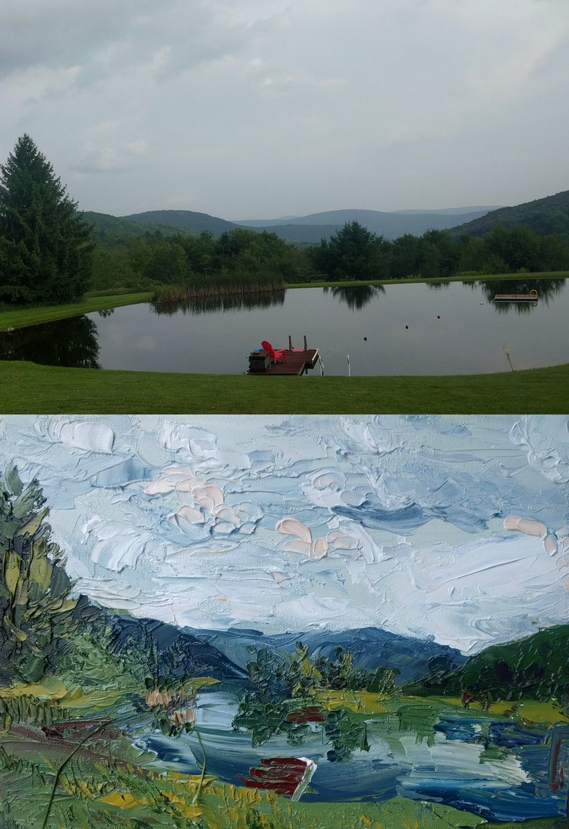 did a plein air in the catskills ahh.... ive missed oils<br>http://pic.twitter.com/3MxoXEgO9M