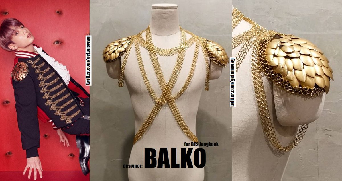 JUNGKOOK #BTS 180814  #LOVE_YOURSELF 結 &#39;Answer&#39; Concept Photo S version  #JUNGKOOK  #정국 #방탄소년단  BALKO - shoulder epaulettes for BTS Jungkook / handmade accessories tnx to Day6lookbook/hiocptszy<br>http://pic.twitter.com/DXvlF46T65