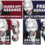 Hands off Assange—Don't shoot the messenger.  Help support WikiLeaks editor @JulianAssange by printing your own banners/posters/stickers/badges—Download print ready pdfs here : https://t.co/YWZOdFoLBI #FreeAssange #Unity4J