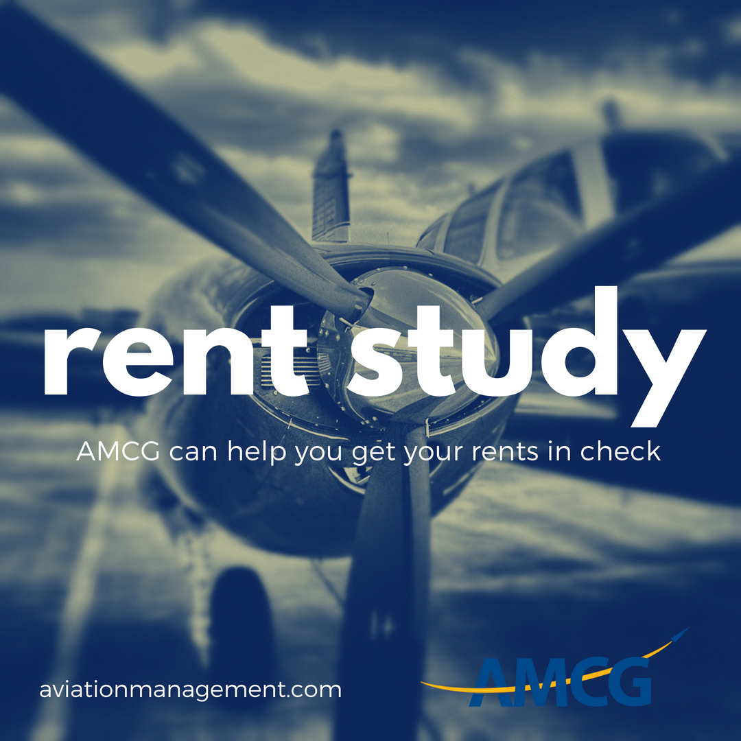 Don't know what your rent should be to compete with the market? A Rent Study is used to derive an opinion of market rent for aeronautical and/or non-aeronautical properties at an airport. AMCG can help you get your rents in check!  http:// bit.ly/20AMCG  &nbsp;   #GAMEnotes #bizav #AMCG20<br>http://pic.twitter.com/j0JzoWRCYi