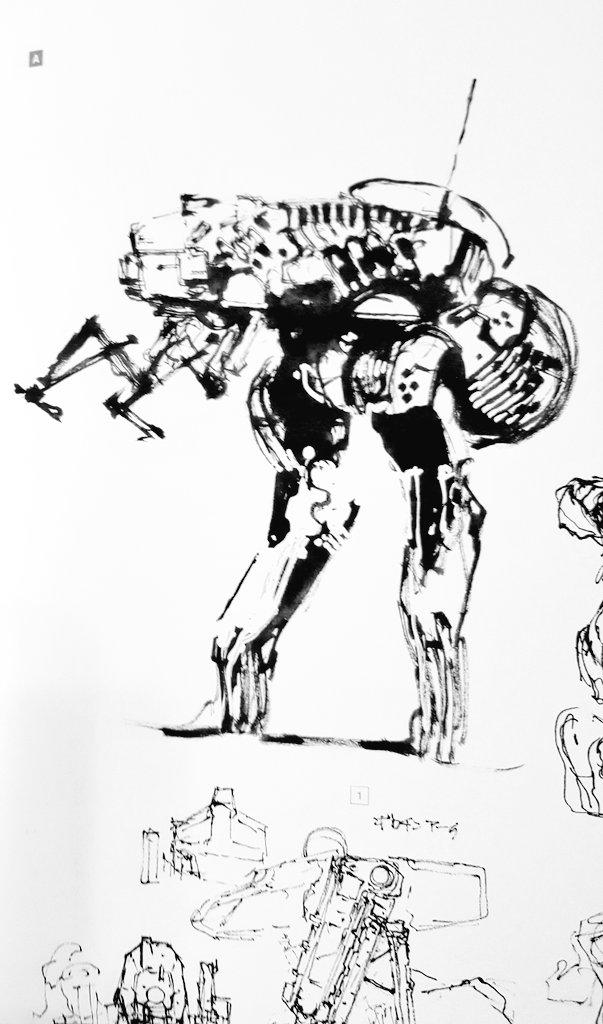 Yoji Shinkawa. Metal Gear designs <br>http://pic.twitter.com/IP59LzV4Vs