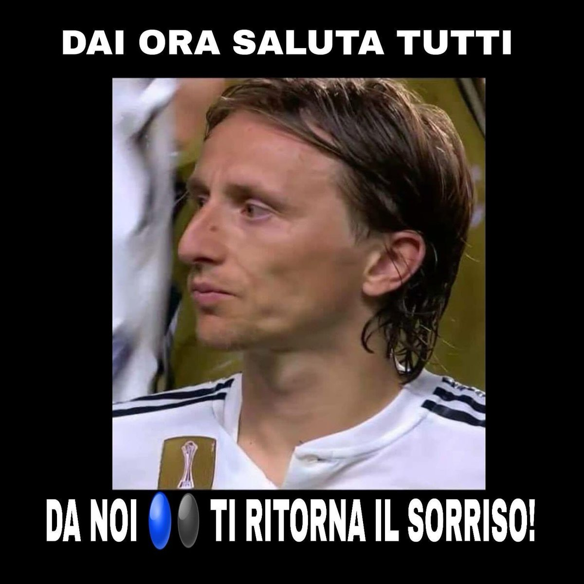 Saluta tutti e bye bye...  Ti stiamo aspettando @lukamodric10!#Modric #Inter  - Ukustom