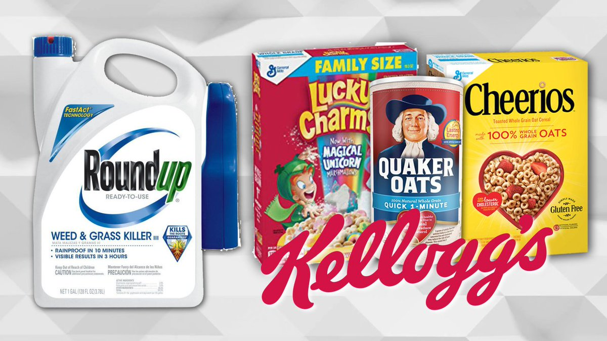 Roundup weed killer ingredient found in Cheerios, Quaker Oats, and other cereals https://t.co/cRyZ7n7W2X