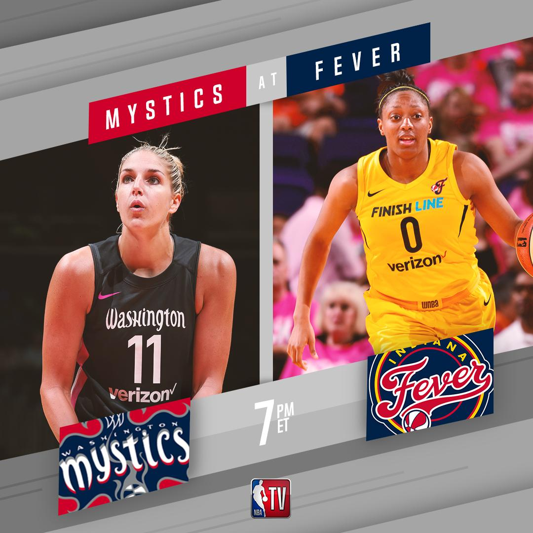 Watch the @WashMystics take on the @IndianaFever - NEXT on NBA TV! 📺