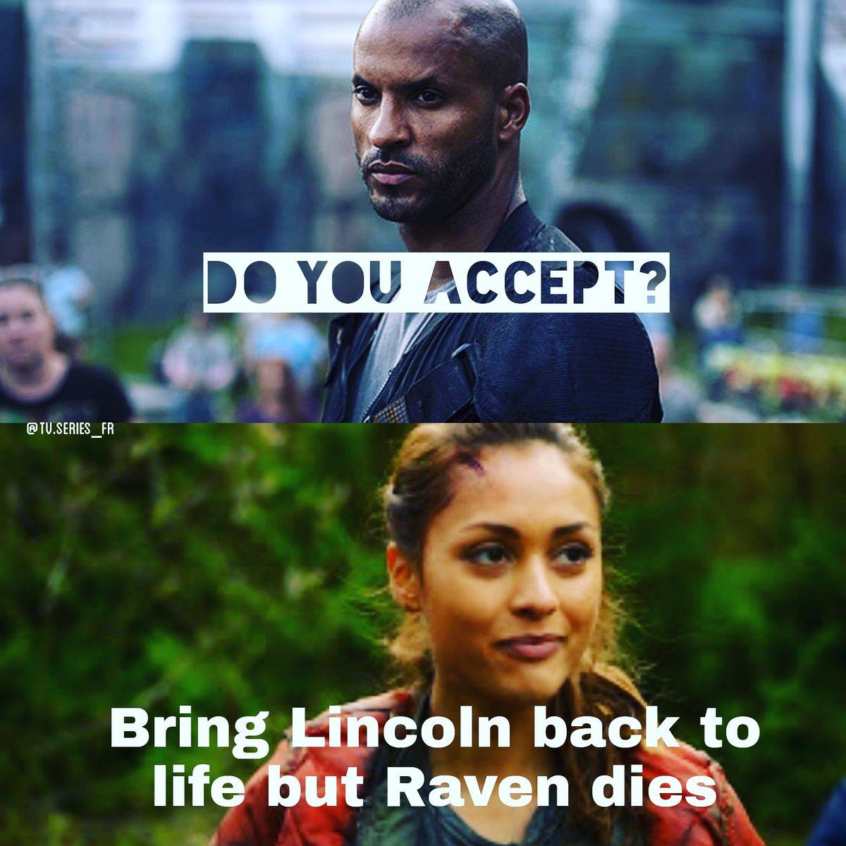 Seguitemi su instagram per molti post su the 100. La page si chiama :  tv.series_fr. Spero vi piacciano i miei edit. /// -portare Lincoln in vita ma Raven muore. Accetti? Nop. Amo troppo Raven scusate ahahahah. Rispondete!!! #the100 #bellarke #The100Season5 #linctavia #raven  - Ukustom