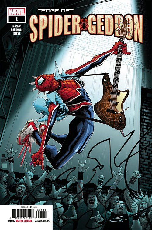 #SpiderPunk is back and better than ever. After SPIDER-VERSE, Hobie Brown was a Web Warrior, but that didn&#39;t mean things back in his universe were solved. Check out the preview pages for @Marvel&#39;s &quot;Edge of Spider-Geddon #1!&quot; Out now!     http:// ow.ly/RLJe30lq7ws  &nbsp;   #stopatacomicshop<br>http://pic.twitter.com/yId1HfGJiH