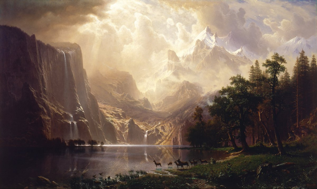 WHAT&#39;S UP GAMERS?! ARE YOU PUMPED FOR RED DEAD REDEMPTION 2, THE UPCOMING ACTION PACKED OPEN-WORLD ACTION GAME FOR PLAYSTATION 4™ AND XBOX ONE™?!  ...Well, you might also enjoy these serene 150-year-old landscape paintings by Albert Bierstadt, pioneer of the luminism movement. <br>http://pic.twitter.com/C5chdH7D3M