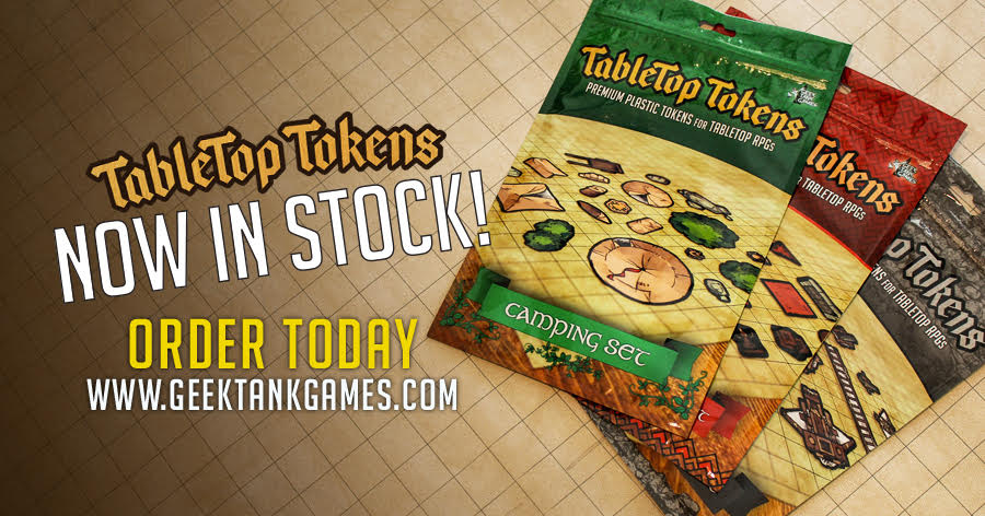 To celebrate the fact that we have product IN STOCK, We over here are going to give away a free set of our tokens to one lucky retweeter. If we hit 100 retweets I&#39;ll roll 2d10s to randomly determine the winner!!!  http://www. geektankgames.com  &nbsp;   #geektankgames #dnd #dnd5e #tabletop #rpg<br>http://pic.twitter.com/QhcRHmRj6H