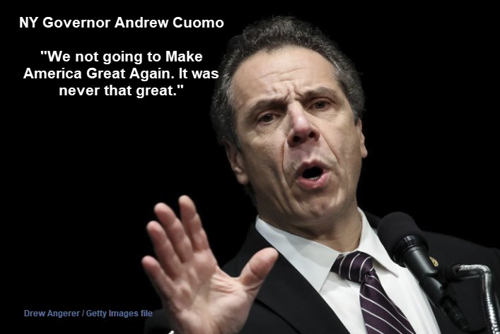 Dumbest Political Comment Ever: N.Y. Gov. Cuomo: 'America was Never that Great'  https://t.co/T9GKPOkM3B