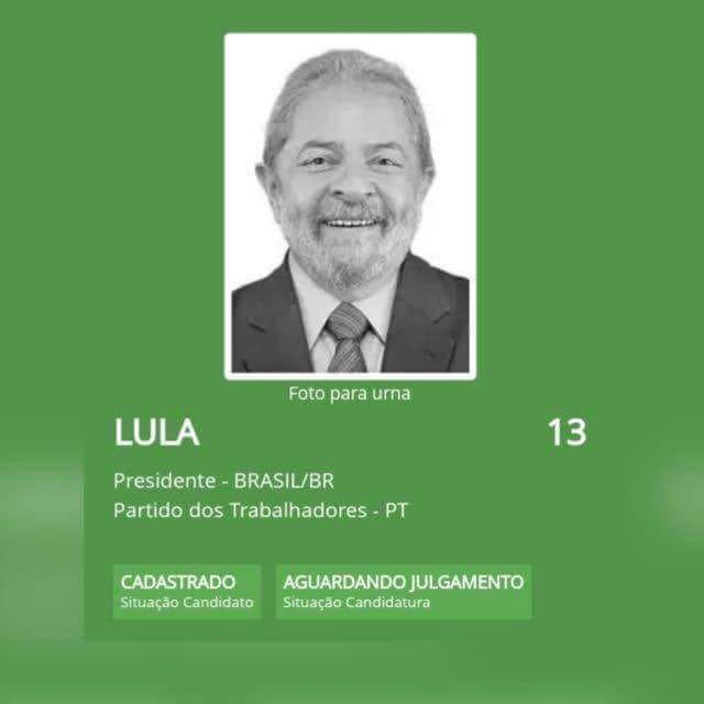 TÁ REGISTRADO!   Para o povo brasileiro voltar a sorrir diante da urna!  Fonte: TSE
