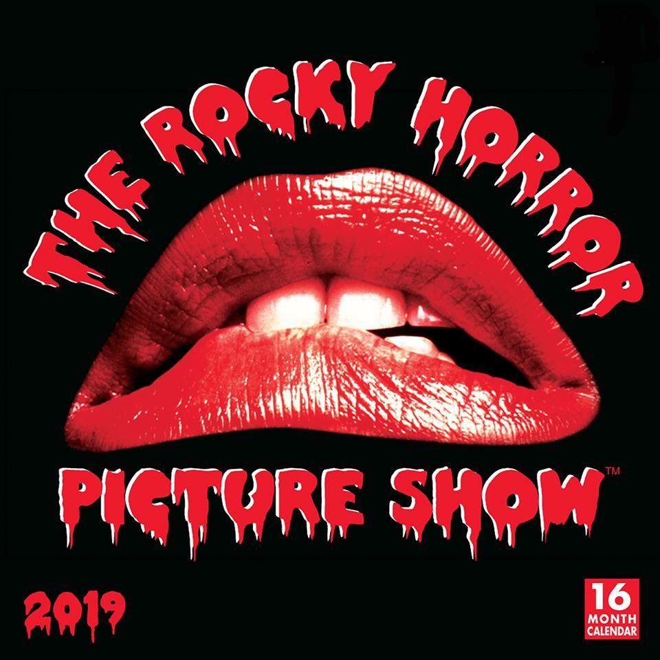 43 yrs ago on 8.14.75, The Rocky Horror Picture Show™, 1st opened in the UK! Celebrate this blast from the past w/ our new 2019 The Rocky Horror Picture Show™ 16-mo. wall calendar,available at rsvp.com! #RockyHorror #RockyHorrorPictureShow @TRHPSFanClub