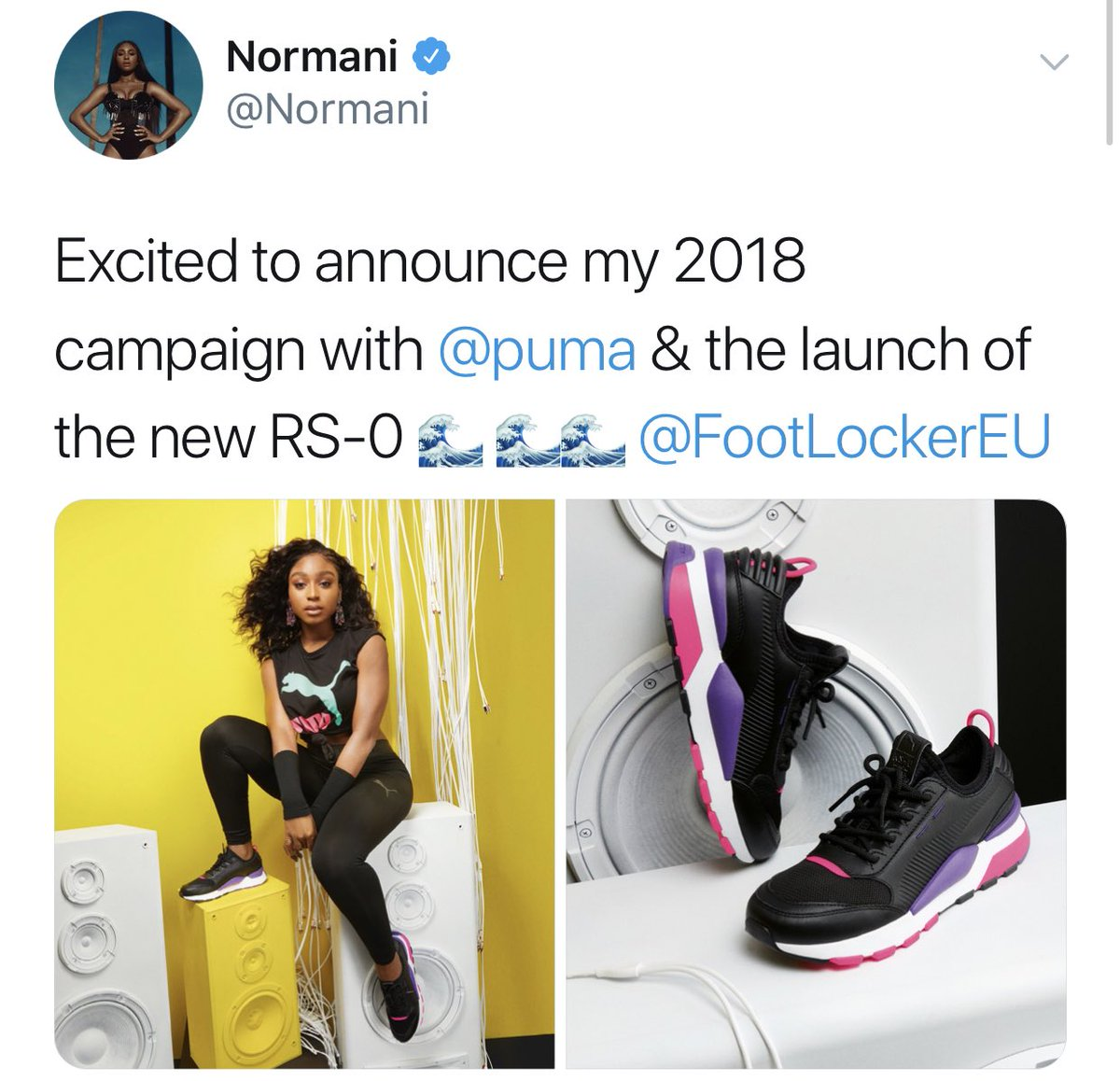 .@Normani has been announced as the latest addition to @Puma's all-star lineup of celebrity ambassadors, which includes Rihanna, Selena Gomez, Cara Delevingne, Kylie Jenner and The Weeknd. <br>http://pic.twitter.com/5gSlYpiXws