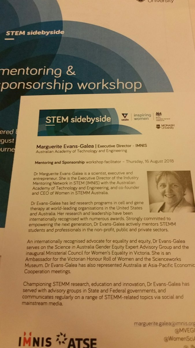 Very excited to hear @MVEG001 speak about #mentorship and learn more about how to create #sponsorship opportunities for myself @veskiorg #STEMsidebyside #WomeninSTEM <br>http://pic.twitter.com/QWdIhZNGr2