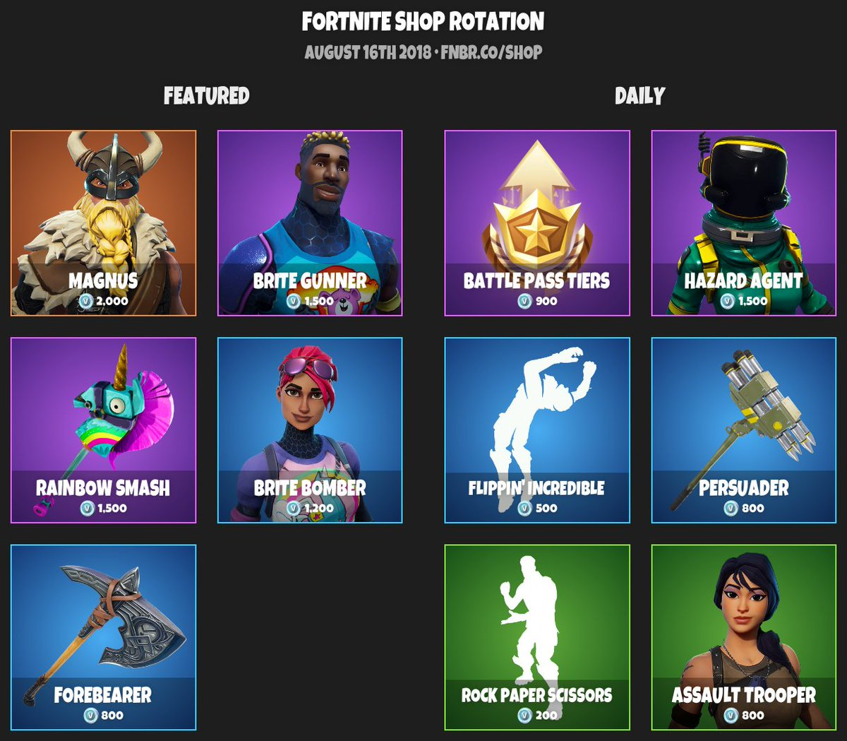 Fortnite Item Shop News Updates On Twitter Fortnite Item Shop