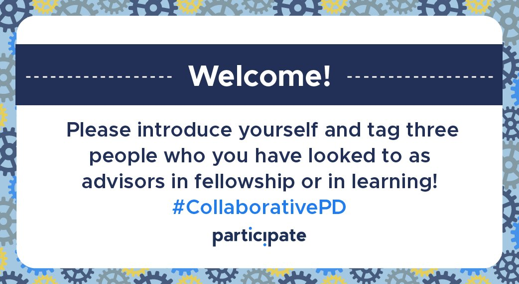 Thrilled to join for tonight's chat! Let's meet for the next 30 minutes to discuss #CollaborativePD! @participate