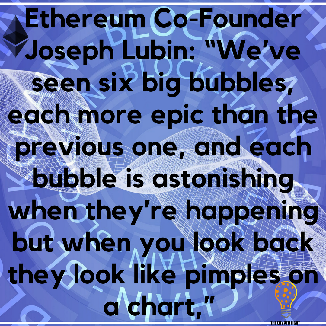 """#Ethereum Co-Founder Joseph Lubin Said Developer Activity Rose by """"Two Orders of Magnitude"""" and this past year's surge in the value of digital currencies was a bubble and the burgeoning ecosystem is stronger because...  Read the whole story at:  http:// bit.ly/ethereum-rebou nd &nbsp; …   #ETH<br>http://pic.twitter.com/SS2qERwyHW"""