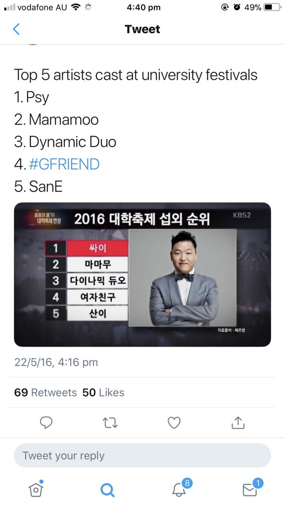 #RememberWhen @RBW_MAMAMOO is 2nd most invited to university festivals only after PSY. 1st for GG. U know, still do  #MamamooCanDoThis<br>http://pic.twitter.com/lp3sFaEuKR