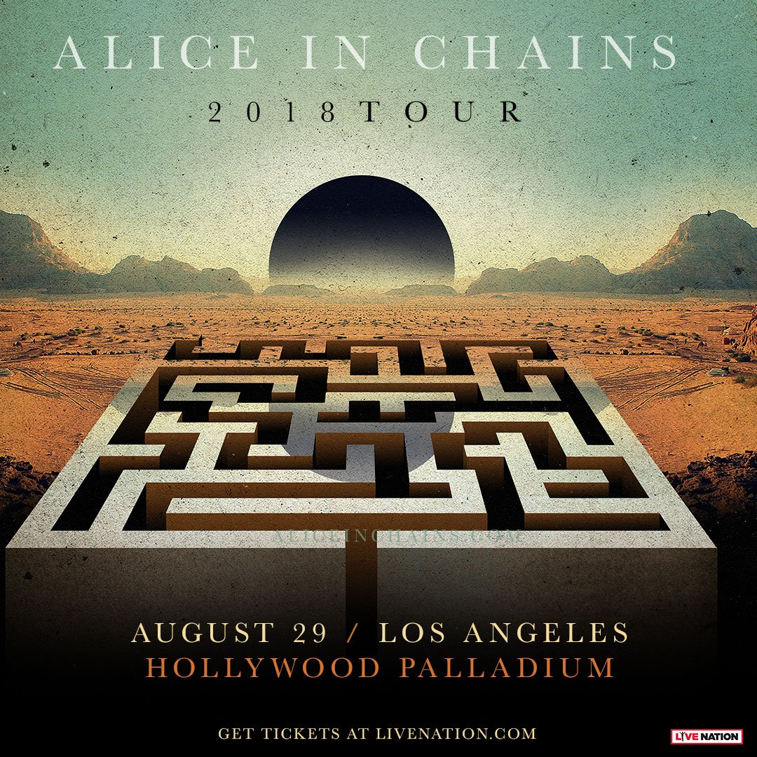Want to see @AliceInChains perform in Los Angeles Wednesday, August 29th at @thepalladium? RT and follow us to win tickets. Winner announced at 6pm. <br>http://pic.twitter.com/ZxRQMkruHk
