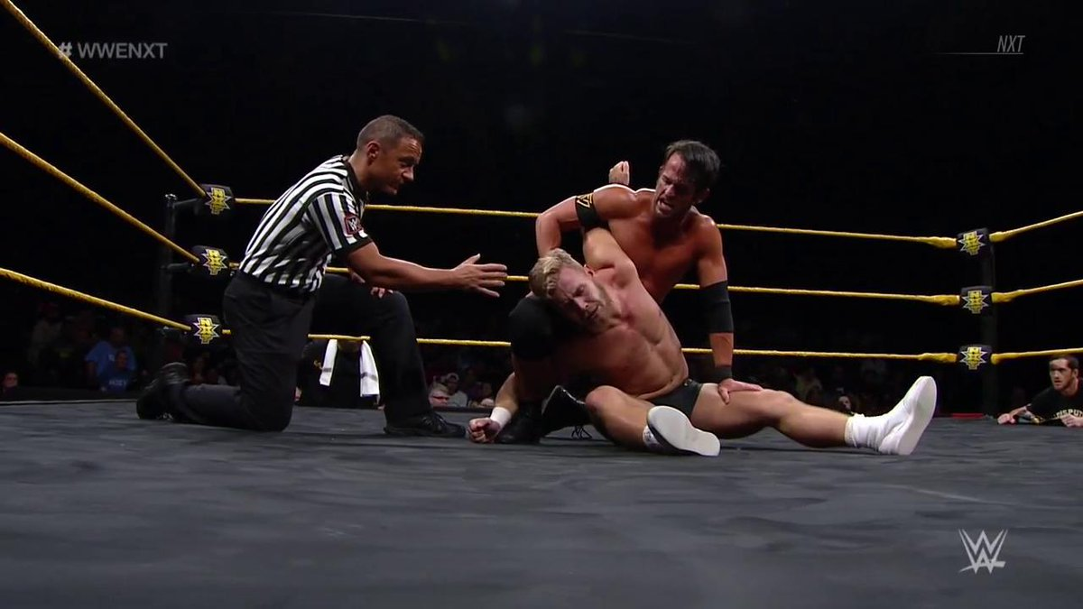 Can @roderickstrong keep @Tyler_Bate grounded tonight? #WWENXT <br>http://pic.twitter.com/CqTypp6896