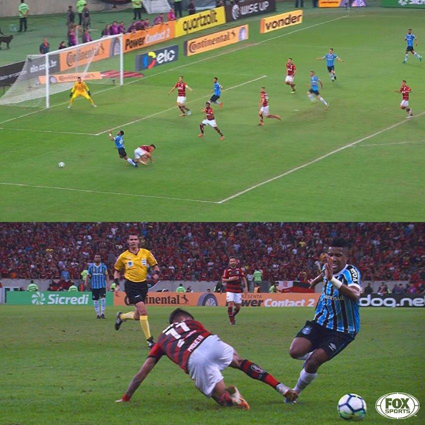 Foi pênalti ou segue o jogo? O VAR mandou seguir!  #CopadoBrasilFOXSports