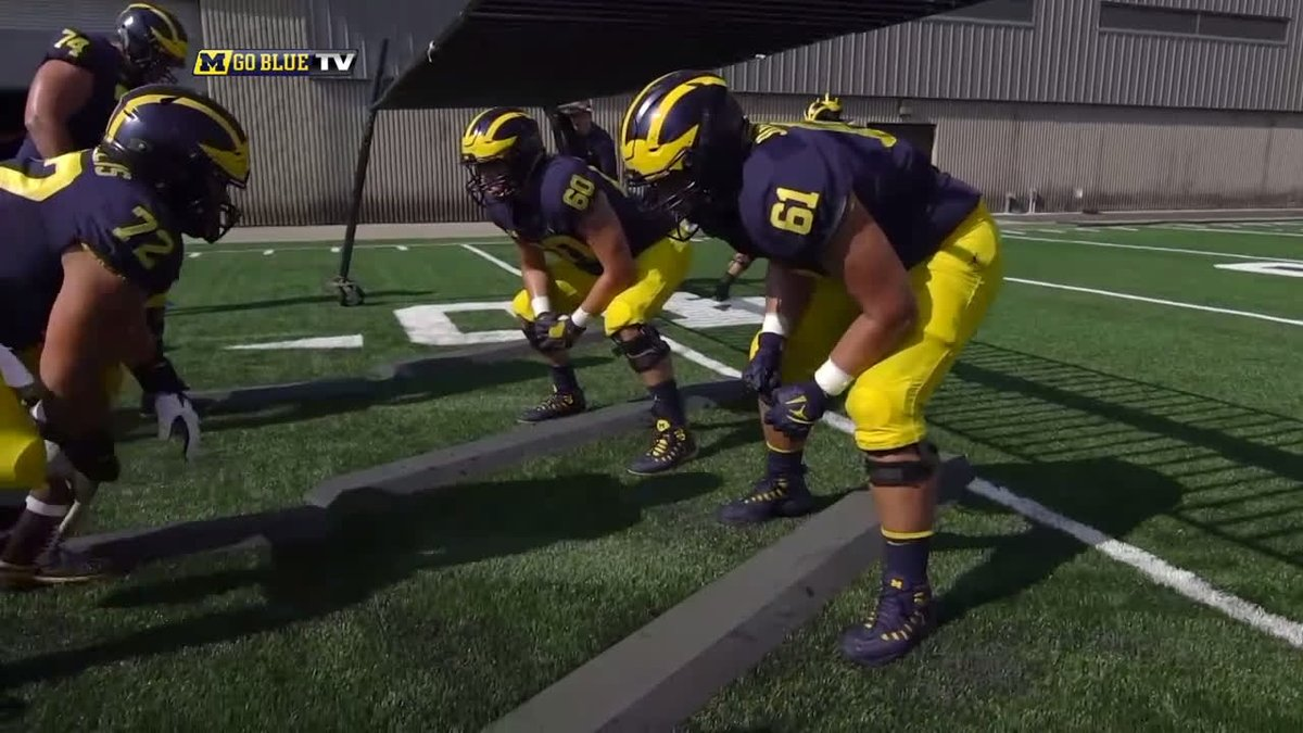 We know this offensive line needs to perform at a high level. The big guys are ready to roll. #GoBlue