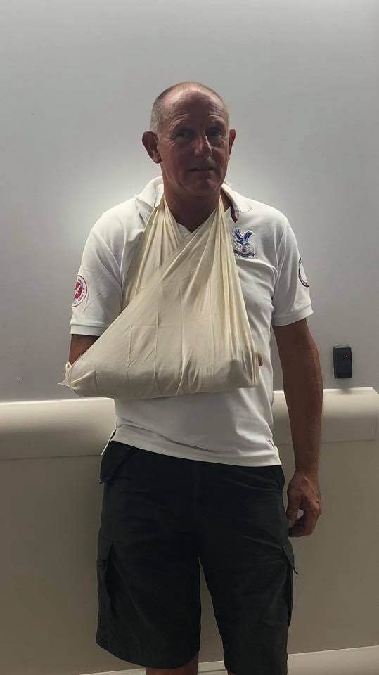 If @Everton do this to their fans, what are you doing for yours @CPFC? My dad broke his shoulder blade celebrating @wilfriedzaha goal against Fulham on the weekend. He still stayed the remainder of the game to see us win! @CEO4TAG @CPFCHQ<br>http://pic.twitter.com/igFih06S0i